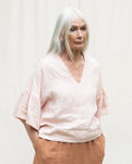 Rita-May Linen Top In Rose