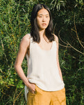 Stella Organi Cotton Vest In Off White