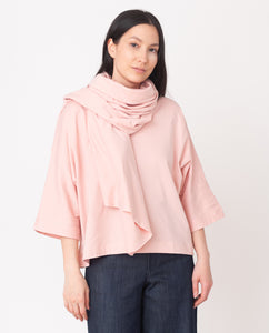SAFIRA Organic Cotton Scarf In Coral