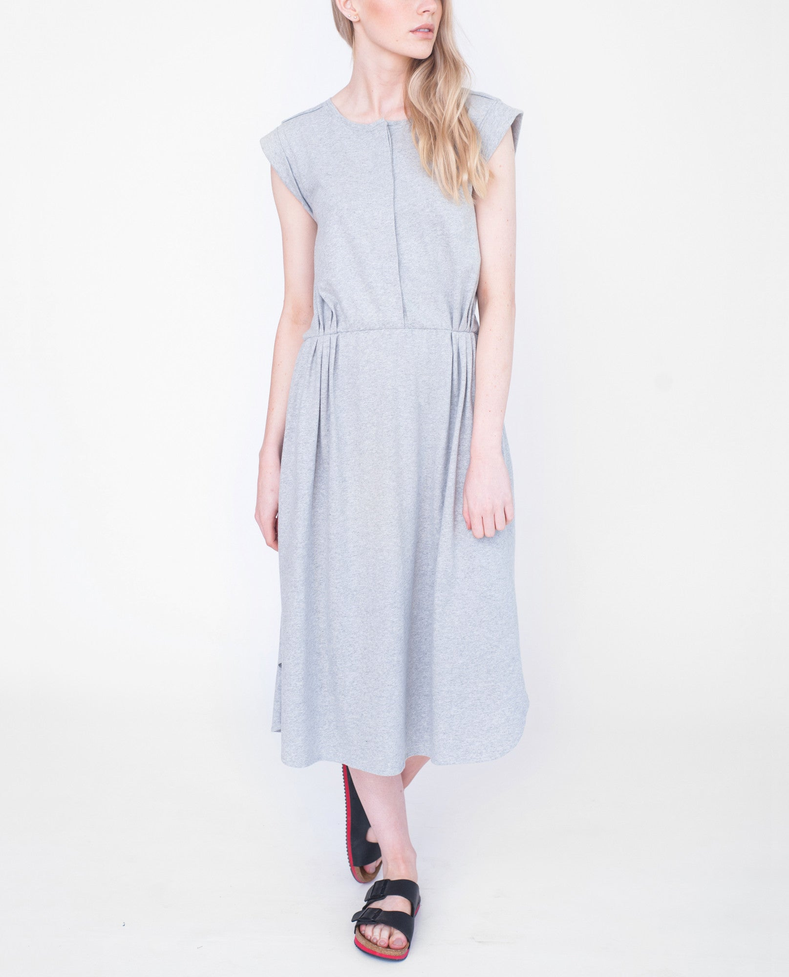SCARLETT Organic Cotton Dress In Light Grey from Beaumont Organic