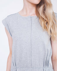 SCARLETT Organic Cotton Dress In Light Grey