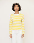 SHOBA Organic Cotton Top In Yellow And White