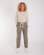 RACHEL Organic Cotton Trousers In Khaki