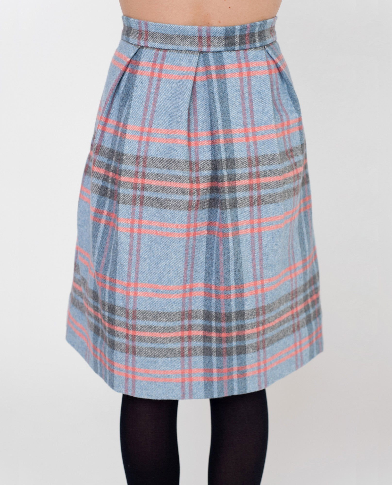 SKYLAR Checked Skirt