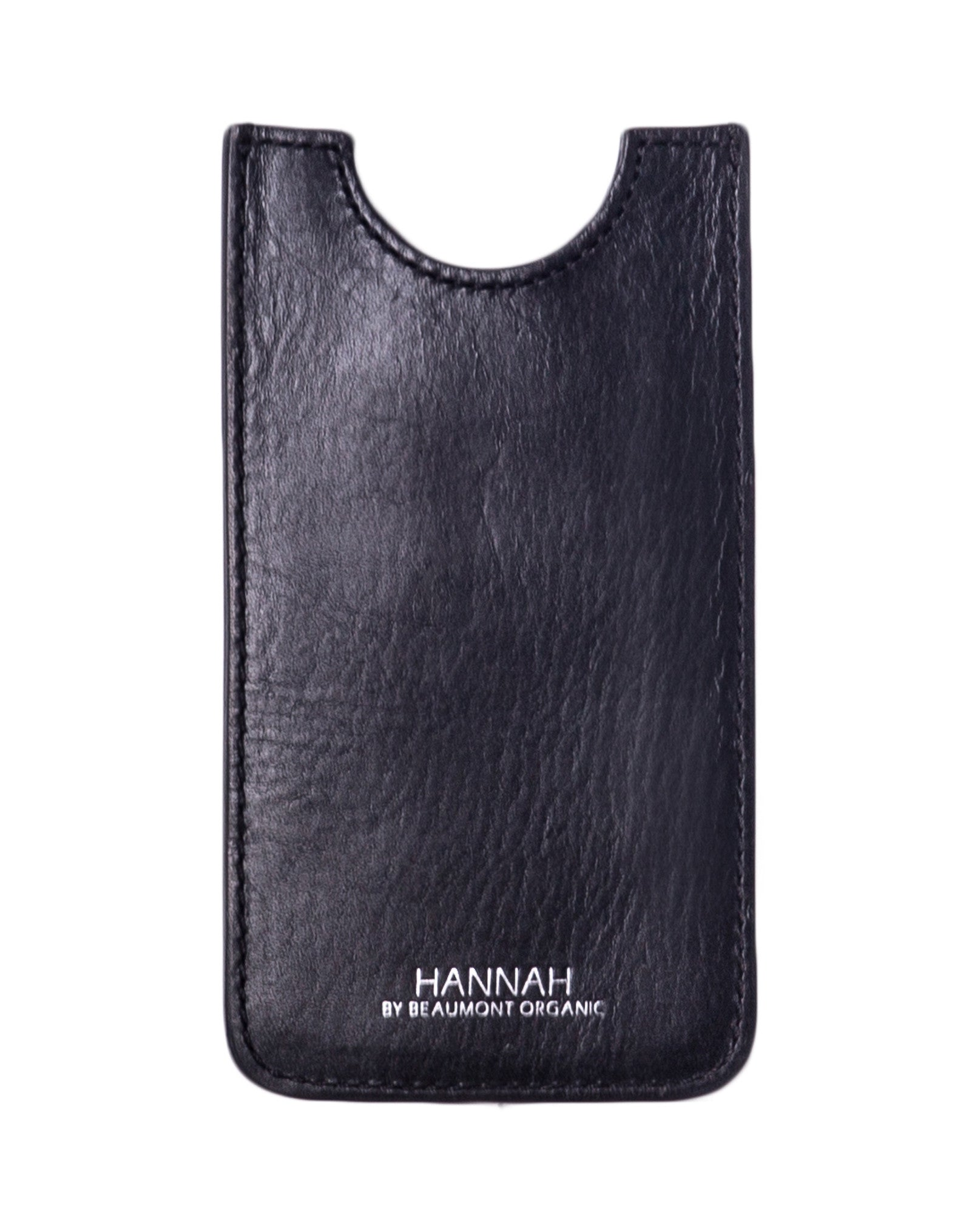 SORRENTO Leather Phone Case In Black from Beaumont Organic