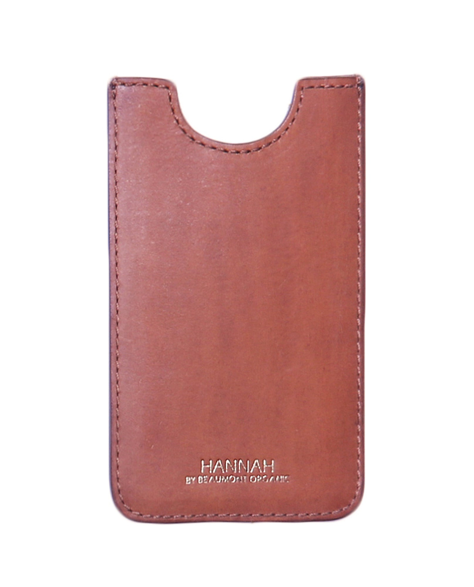 SORRENTO Leather Phone Case In Tan from Beaumont Organic