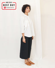 STEPHANIE Organic Cotton Shirt In White