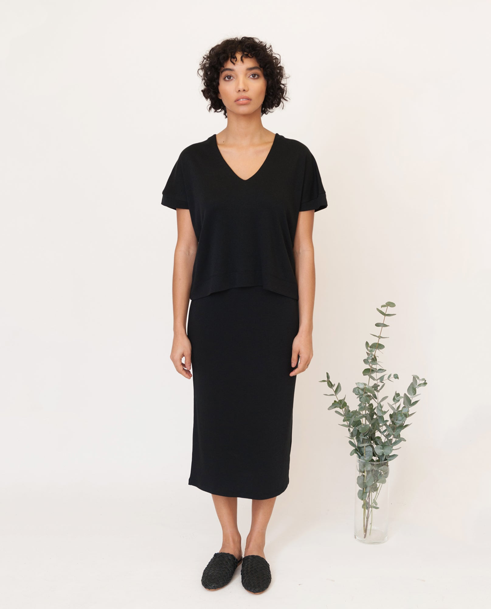 SUZANNE Lyocell Skirt In Black