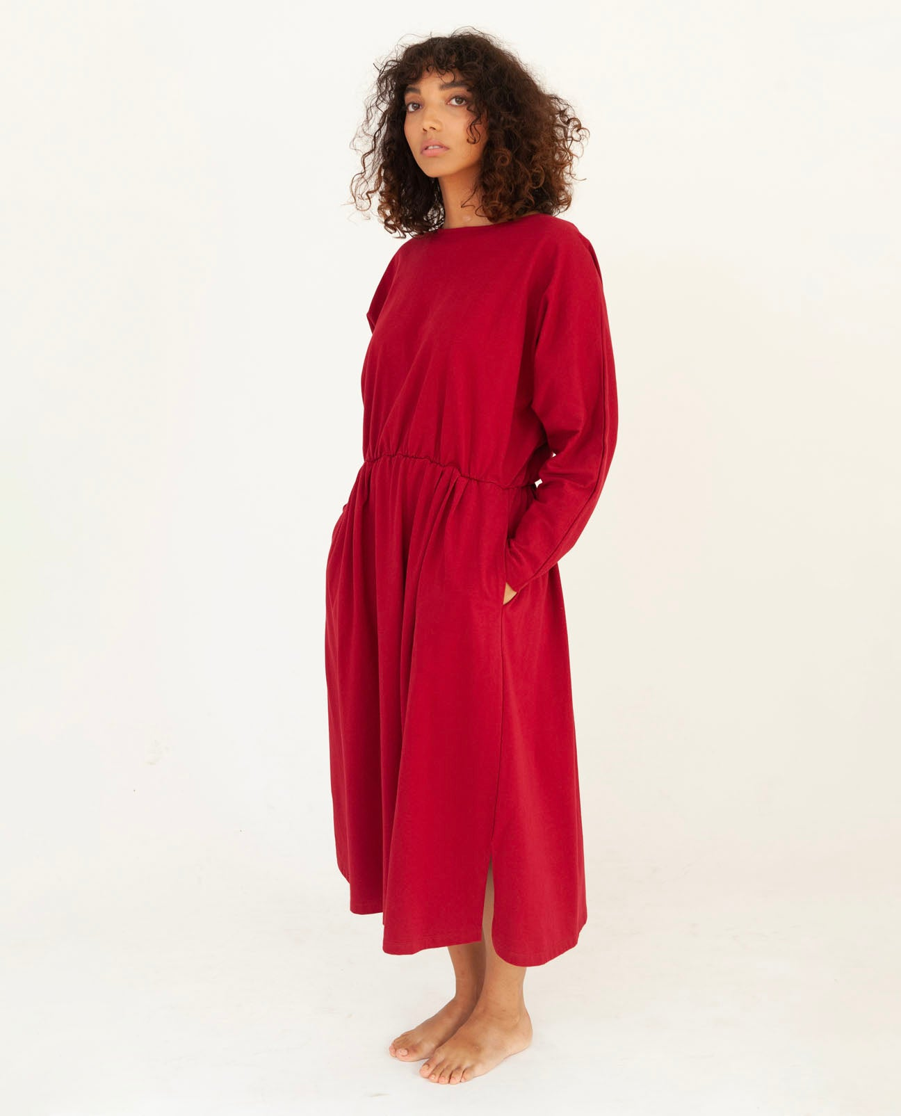 TALITA Organic Cotton Dress In Cherry