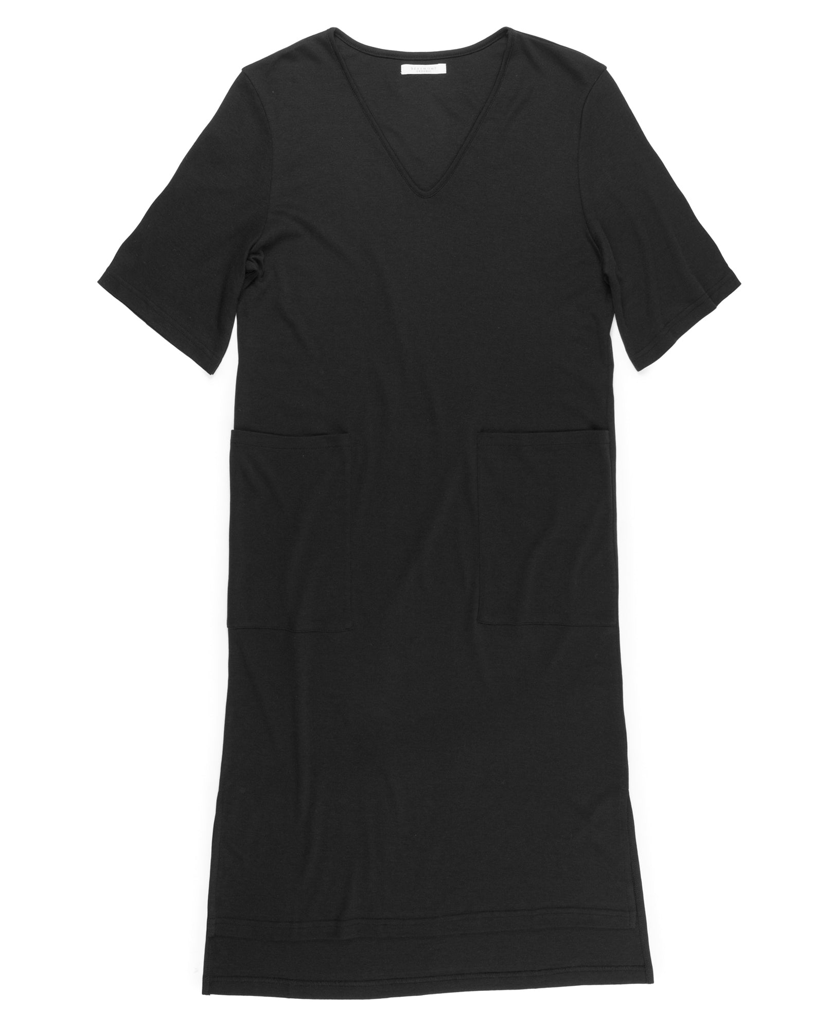 TARA Lyocell And Cotton Dress In Black