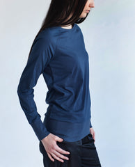 TONI Organic Cotton Top In Navy