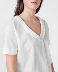 TONYA Organic Cotton Blouse In White