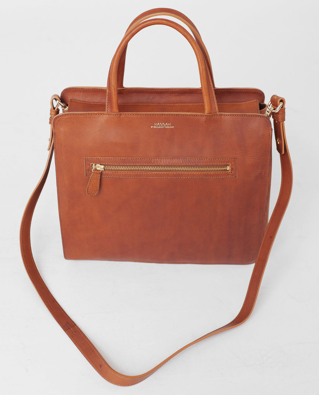 TOULOUSE Leather Shopper Bag In Tan