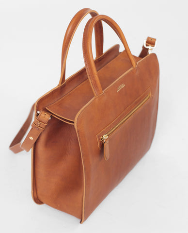 TOULOUSE Leather Shopper Bag
