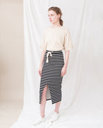 VIDU Organic Cotton Skirt In Black And White