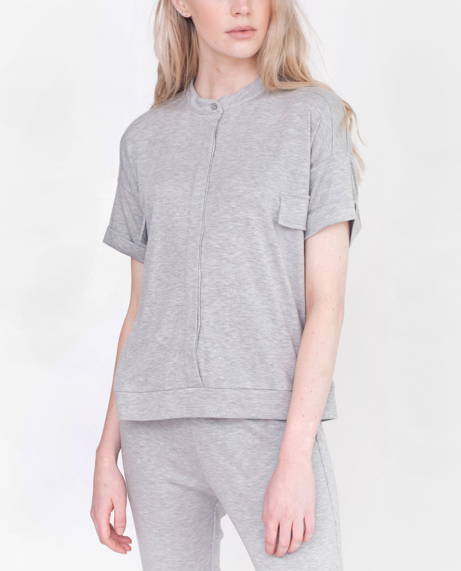 VIOLET Lyocell And Cotton Shirt In Light Grey
