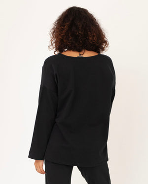 WILLA Organic Cotton Top In Black
