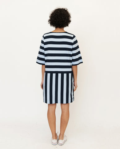 WENDY Organic Cotton Dress In Navy And Blue