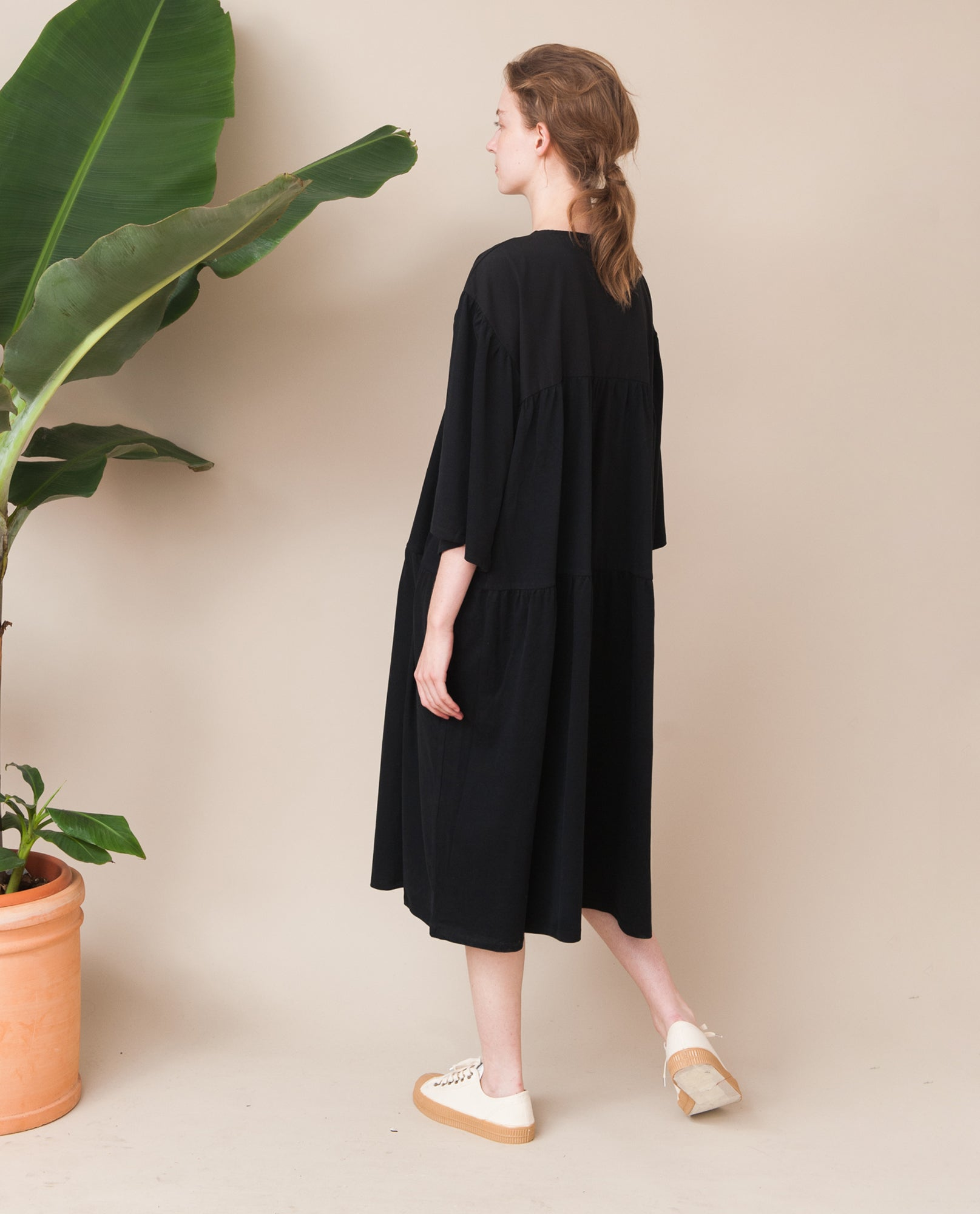 YARA Organic Cotton Dress In Black