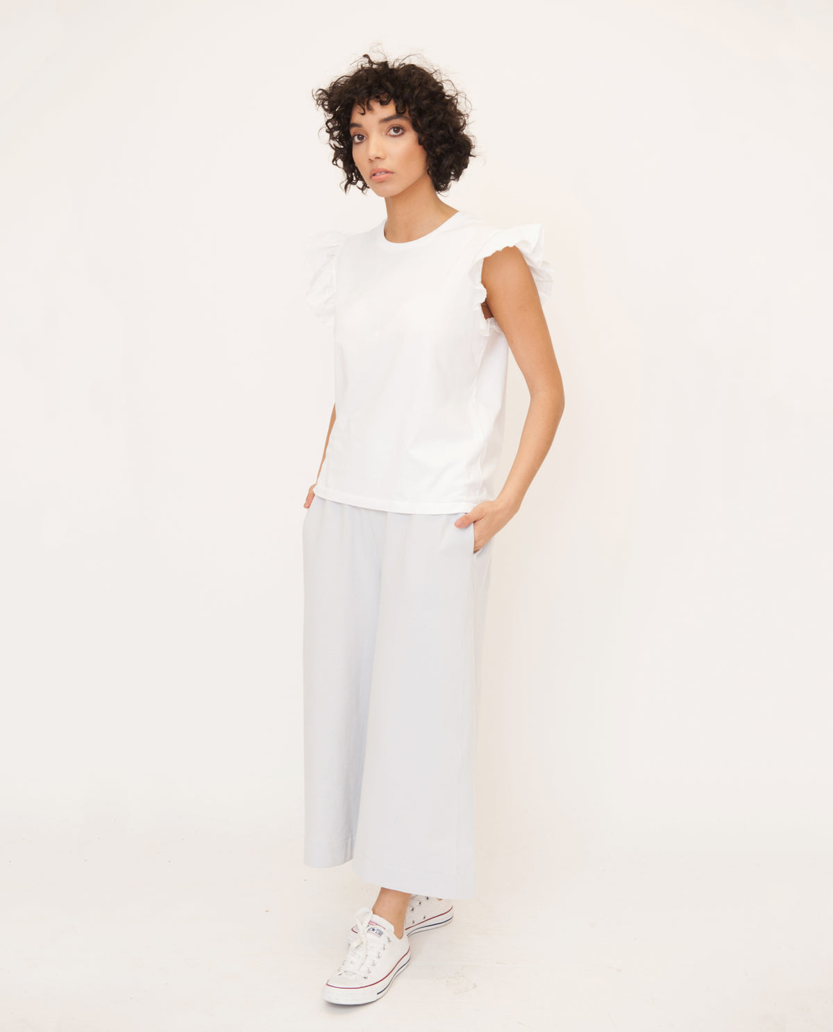ZOOEY Organic Cotton Top In White