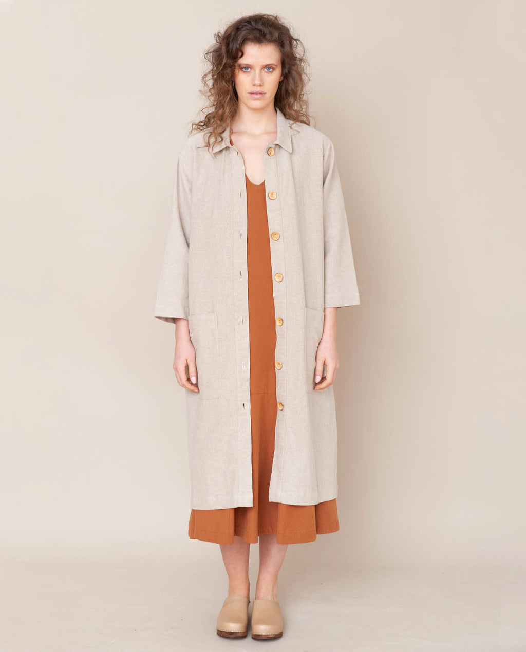 Abbey Linen Jacket In Natural
