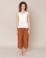 Adrienne Organic Cotton Trouser In Coffee