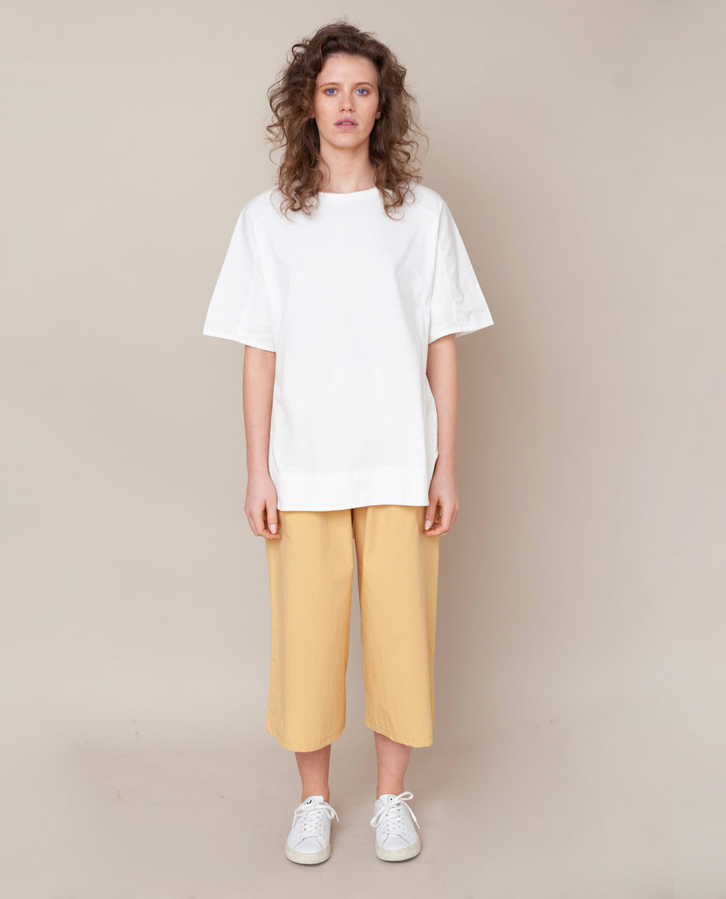 Adrienne Organic Cotton Trouser In Honey
