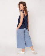 Adrienne Organic Cotton Trouser In Sky