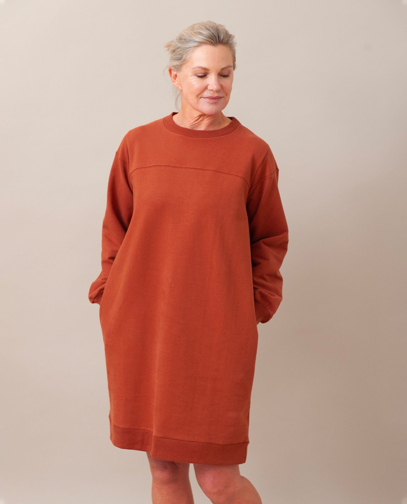 AGATHA Organic Cotton Dress In Cinnamon