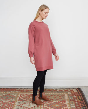 AGATHA Organic Cotton Dress In Old Rose