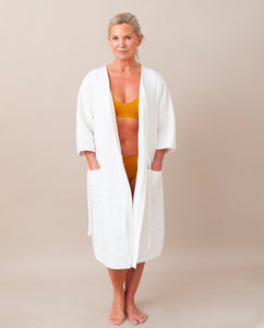 AITANA Organic Cotton Robe In Off White