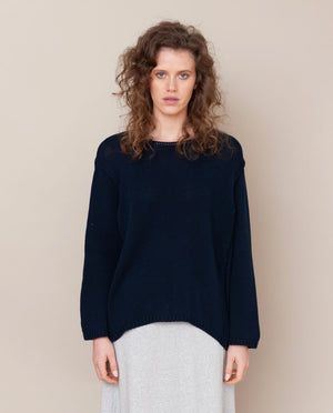 Alessandra-Jane Organic Cotton Jumper In Navy