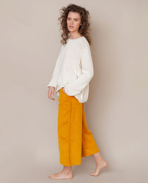 Alessandra-Jane Organic Cotton Jumper In Off White