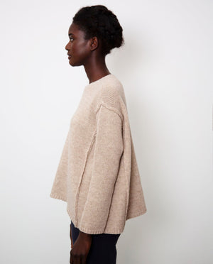 Alessandra-Rose Virgin Wool Jumper In Beige