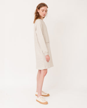 ALEXIS Organic Cotton Dress In Light Grey