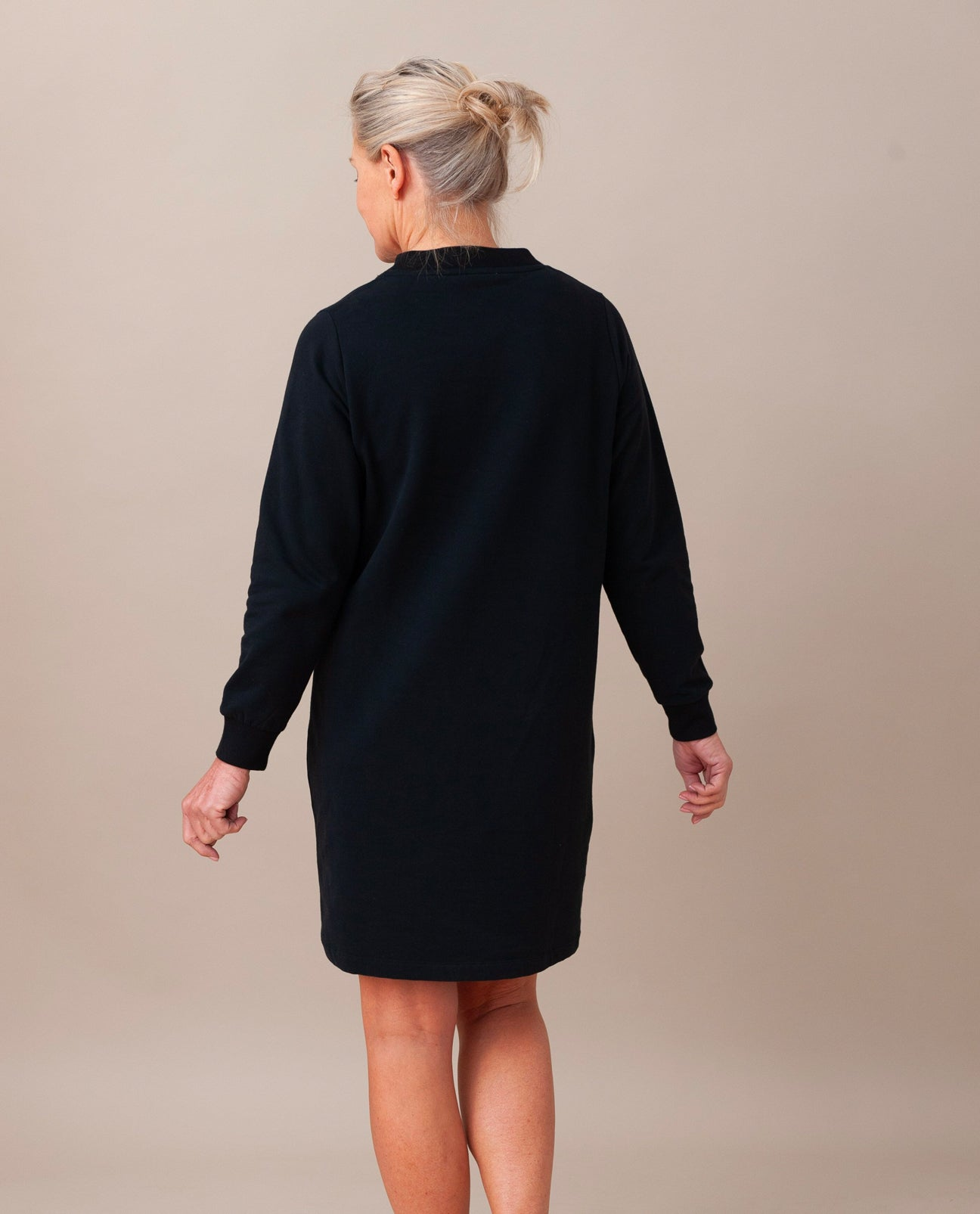 ALEXIS Organic Cotton Dress In Black