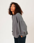 AMELIA Organic Cotton Sweatshirt in Grey Marl