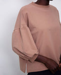 Amelia Organic Cotton Top In Mocha