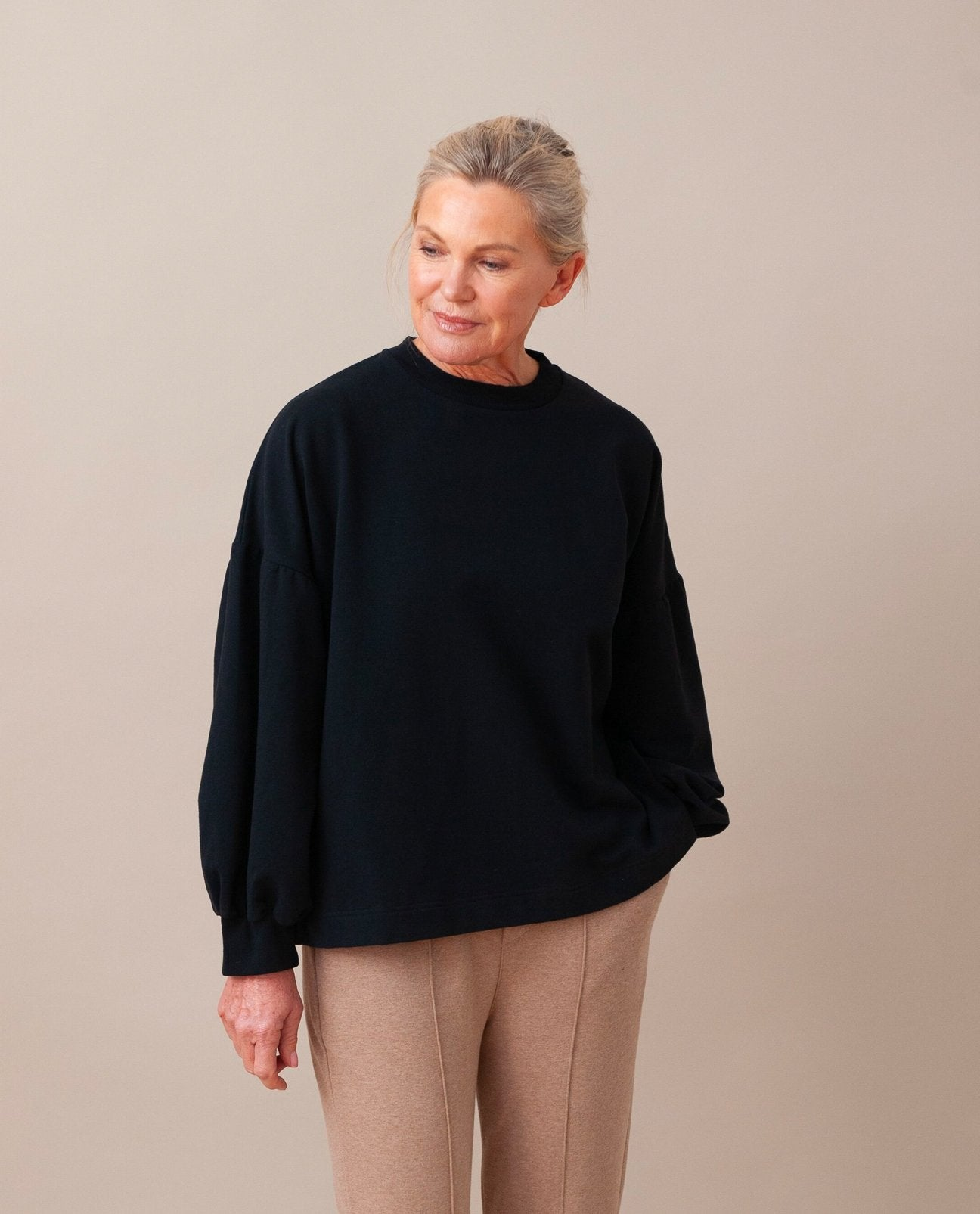 AMELIA Organic Cotton Top in Black