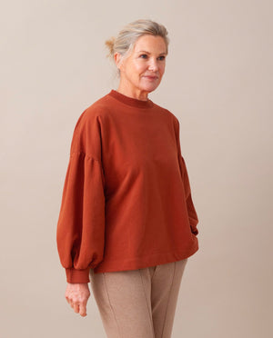 AMELIA Organic Cotton Top in Cinnamon