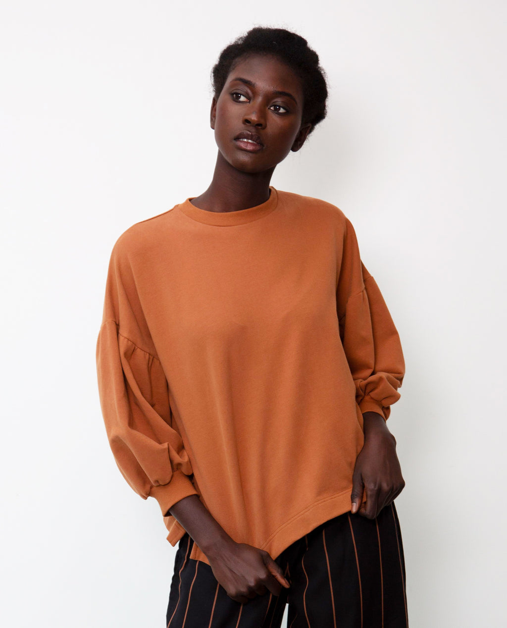 Amelia Organic Cotton Top In Tan