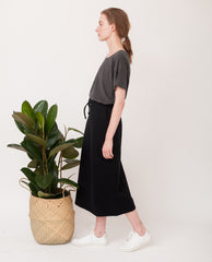ANA Organic Cotton Skirt In Black