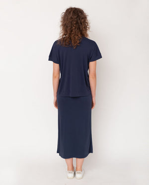 Ana-Lou Lyocell Jersey Skirt In Midnight
