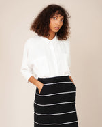 ANA-SUE Organic Cotton Skirt In Black & Off White
