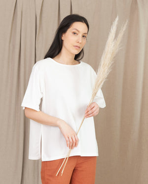 HAYLEY Organic Cotton Top in White