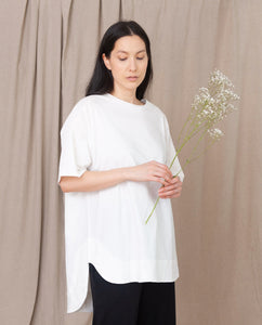 ANDREA Organic Cotton Tunic in Off White