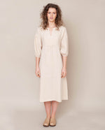Andreia-May Linen Dress In Bone