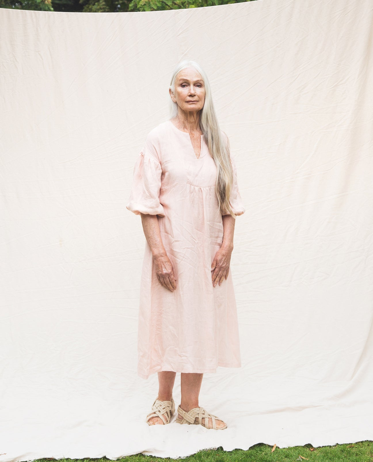 Andreia-May Linen Dress In Rose
