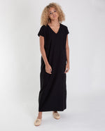 ANGELA Organic Cotton Dress In Black
