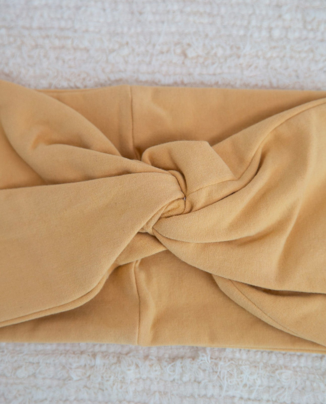 Anjalina-Jane Organic Cotton Headband In Honey
